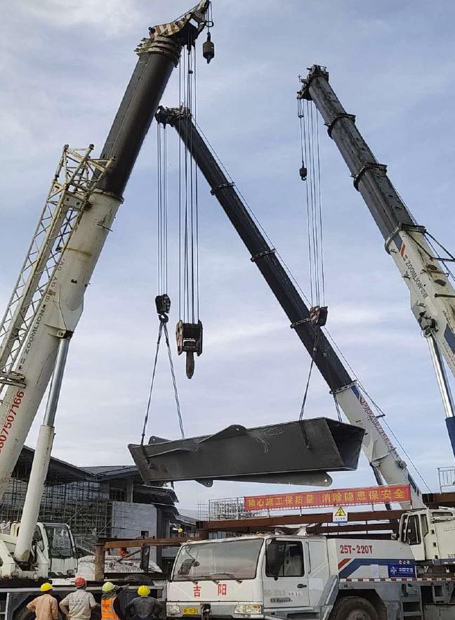 海棠湾钢结构桥安装